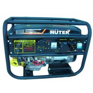 Бензогенератор Huter DY6500 LXA  (АВР + эл. старт)