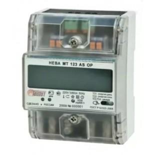 Счетчик электроэнергии Нева МТ 123 ASOP (однофазный, 2x тарифный)